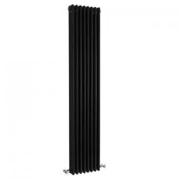 Bayswater Nelson Triple Gloss Black Radiator - 1800 x 381mm