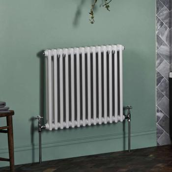 Bayswater Nelson Double White Radiator - 600 x 650mm