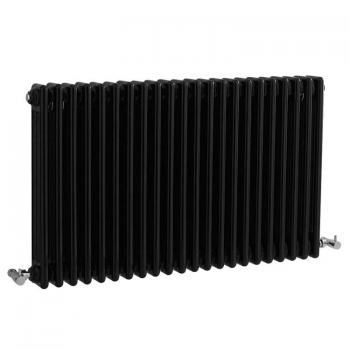 Bayswater Nelson Gloss Black Triple Radiator