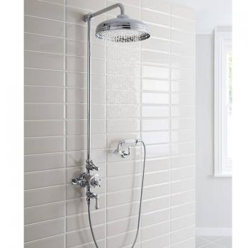 Crosswater Belgravia Exposed Shower Valve, Fixed Shower Head & Cradle