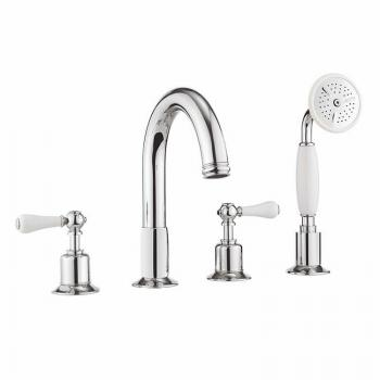 Crosswater Belgravia Lever Bath 4 Hole Set With Kit