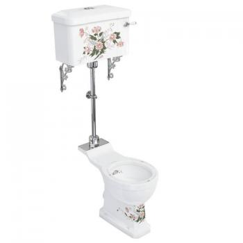 Burlington English Garden Medium Level Toilet