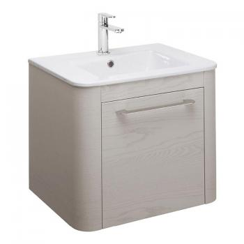 Bauhaus Celeste 600mm Pebble Vanity Unit & Ceramic Basin