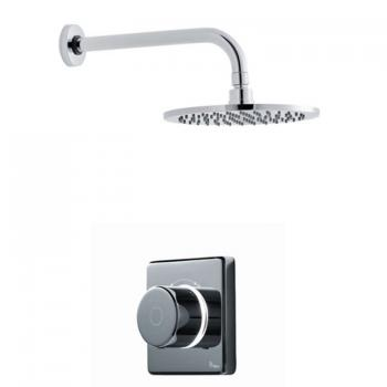 Britton Contemporary 2025 Digital Shower Valve With Wall Mounted Round Head