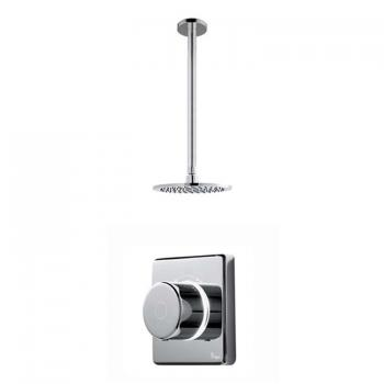 Britton Contemporary 2025 Digital Shower Valve & Ceiling Mounted Round Head