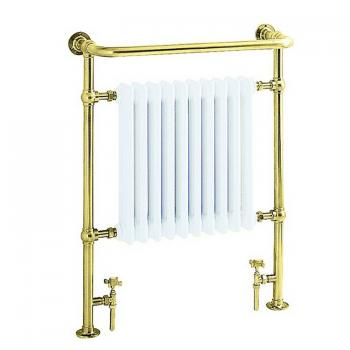 Heritage Clifton Vintage Gold Heated Towel Rail