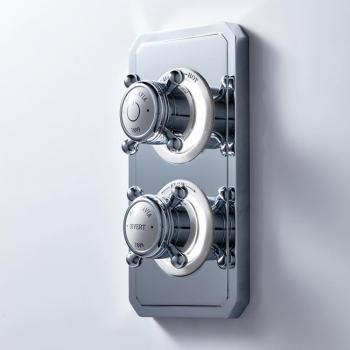 Crosswater Belgravia Crosshead Dual Outlet Digital Bath/Shower Valve - High Pressure