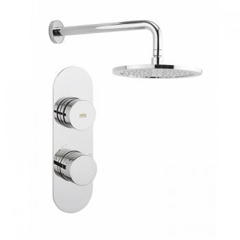 Crosswater Dial 1 Control Shower Valve With Central Trim & Shower Head