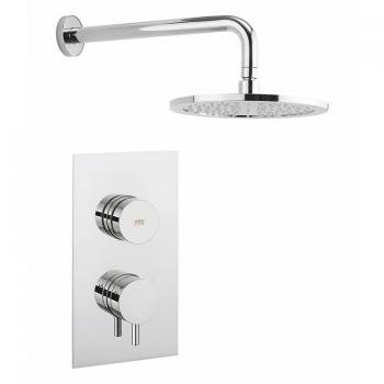Crosswater Dial 1 Control Shower Valve With Kai Lever Trim & Shower Head