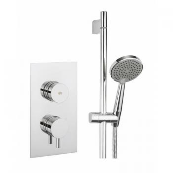 Crosswater Dial 1 Control Shower Valve With Kai Lever Trim & Ethos Slider Rail