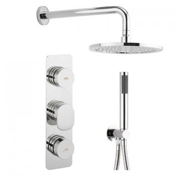 Crosswater Dial 2 Shower Control With Pier Trim, Fixed Shower Head & Hose