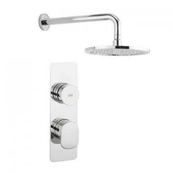 Crosswater Dial Shower Control With Pier Trim & Wall Mounted Shower Head