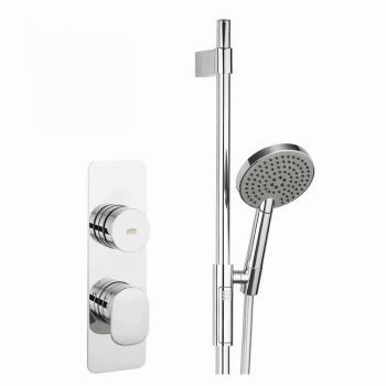 Crosswater Dial Shower Control With Pier Trim & Sliding Rail Kit