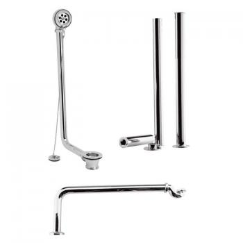 Ultra Chrome Exposed Roll Top Bath Pack