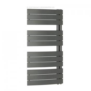 Bauhaus Essence Anthracite 550mm Curved Flat Panel Towel Rail