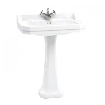 Burlington Edwardian Large 80cm Basin & Classic Pedestal