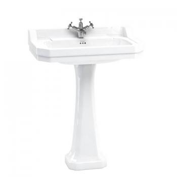 Burlington Edwardian Large 80cm Basin & Regal Pedestal