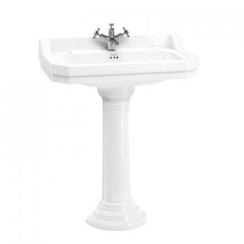 Burlington Edwardian Large 80cm Basin & Regal Round Pedestal