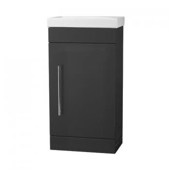 Roper Rhodes Esta Gloss Dark Clay 460mm Freestanding Unit & Basin