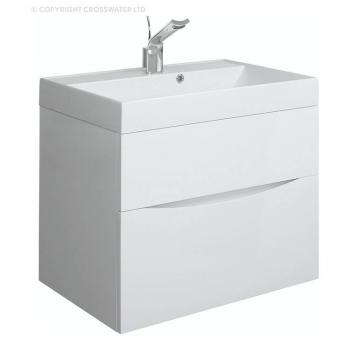 Bauhaus Glide II 70 White Gloss Vanity Unit & Basin