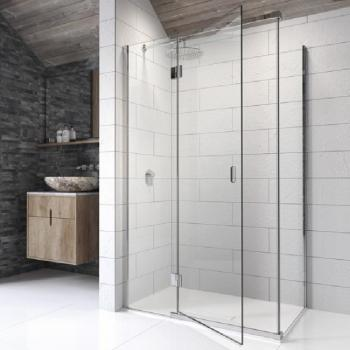 Kudos Pinnacle 8 Hinged Shower Door With Side Panel