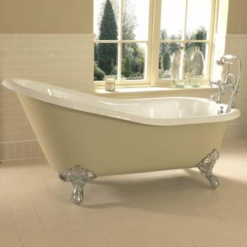 Imperial Ritz 1540mm Cast Iron Slipper Bath