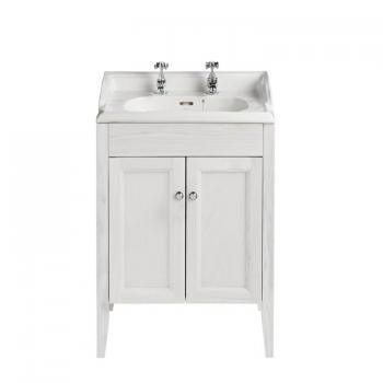 Heritage Caversham Dove Grey Vanity Unit & Dorchester Square Basin