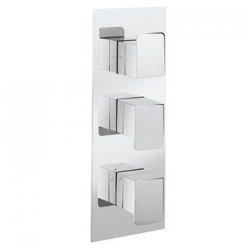 Crosswater Kelly Hoppen Zero 3 Thermostatic Shower Valve - Twin Outlet