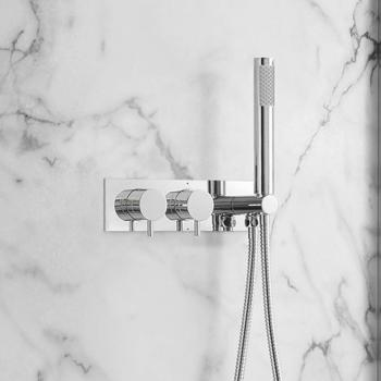 Crosswater MPRO Chrome Thermostatic Shower Valve With Kit