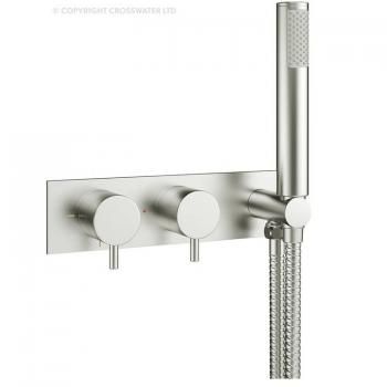 Crosswater MPRO Brushed Stainless Steel Thermostatic Shower Valve With Kit