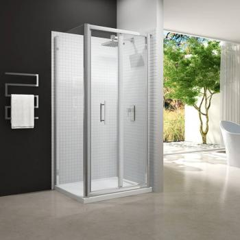 Merlyn 6 Series Bifold Shower Door With Side Panel