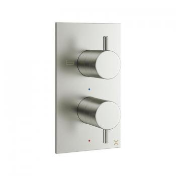 Crosswater MPRO Brushed Stainless Steel Thermostatic Bath Shower Valve
