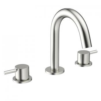 Crosswater MPRO Brushed Stainless Steel Basin 3 Hole Set