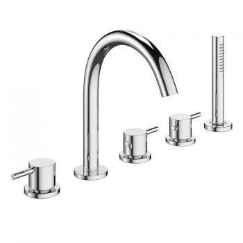 Crosswater MPRO Chrome Bath 5 Hole Set