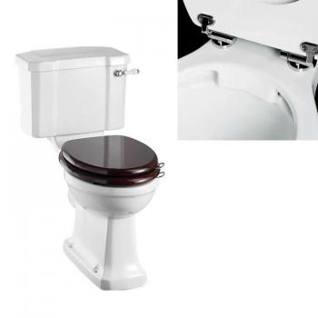 Burlington Rimless Slimline Close Coupled Toilet With Ceramic Lever