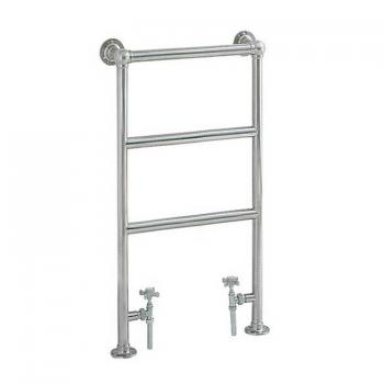 Heritage Portland Chrome Cloakroom Heated Towel Rail