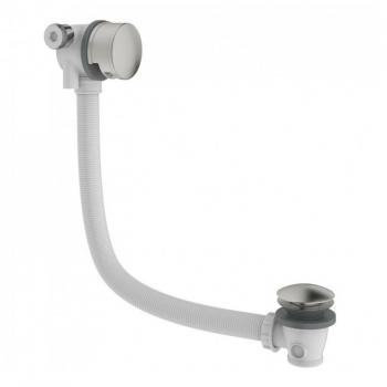 Crosswater Mike Pro Brushed Stainless Steel Overflow Bath Filler