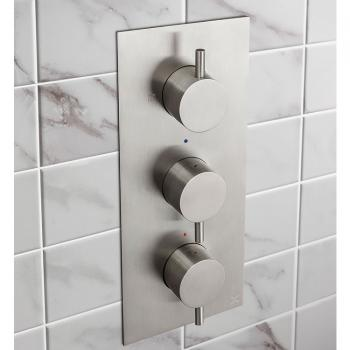 Crosswater MPRO Brushed Stainless Steel Thermostatic Shower Valve