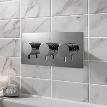 Crosswater MPRO Chrome Thermostatic Landscape Shower Valve