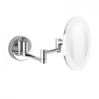 Crosswater Mike Pro LED Round Cosmetic Mirror