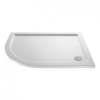 Hudson Reed Pearlstone 1200 x 800mm Offset Quadrant Shower Tray & Waste