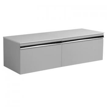 Roper Rhodes Pursuit Gloss Light Grey 1200mm Vanity Unit & Worktop