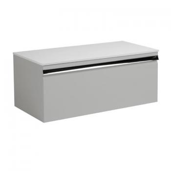 Roper Rhodes Pursuit Gloss Light Grey 900mm Vanity Unit & Worktop