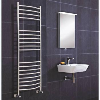 Phoenix Thame Curved Electric Stainless Steel Radiator