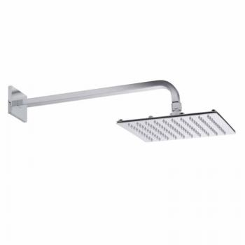 Roper Rhodes Square 250mm Polished Stainless Steel Shower Head & Arm