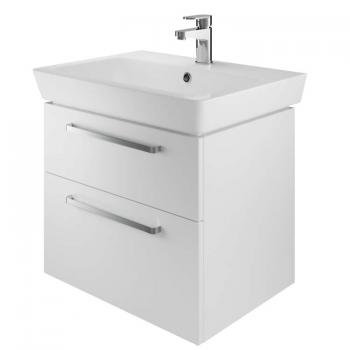 The White Space Scene 600mm White Gloss Wall Hung Vanity Unit & Basin