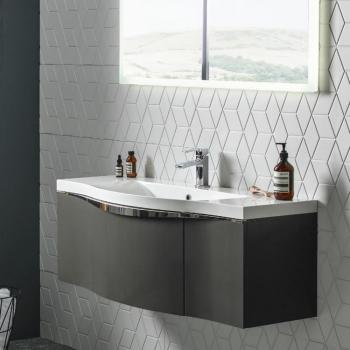 Roper Rhodes Serif 1200mm Gloss Dark Clay Wall Mounted Vanity Unit & Basin