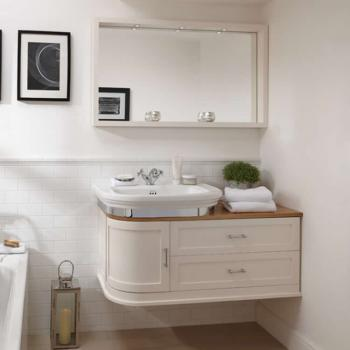 Imperial Carlyon Thurlestone Painted Wall Hung Offset Vanity Unit & Basin