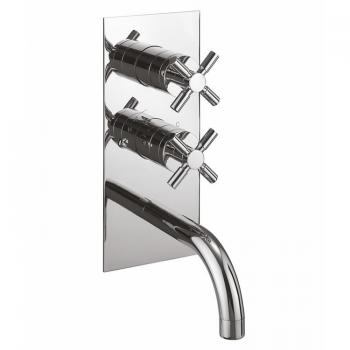 Crosswater Totti Thermostatic Shower Valve With Bath Spout & Diverter