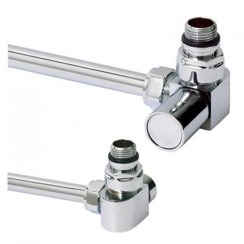 Phoenix Corner Chrome Radiator Valves